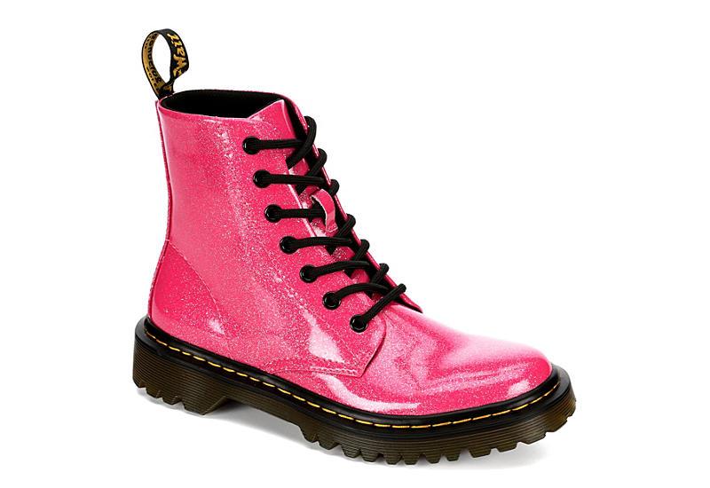 DR.MARTENS Womens Luana Combat Boot - PINK