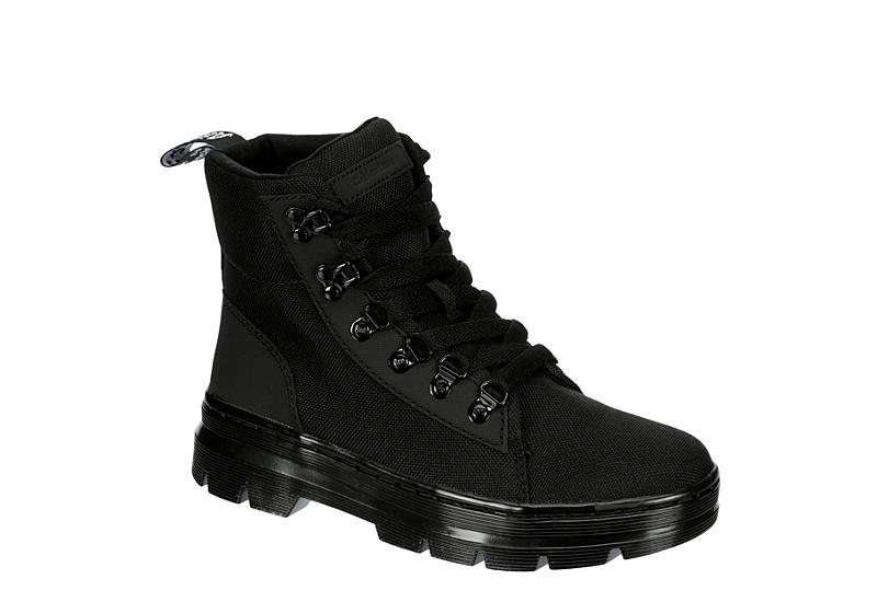 DR.MARTENS Womens Combs Combat Boot - BLACK