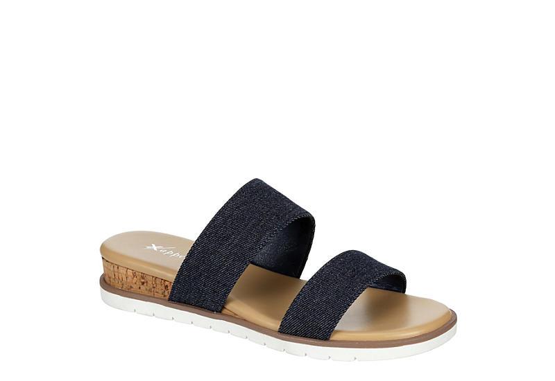XAPPEAL Womens Farrah Slide Sandal - DENIM