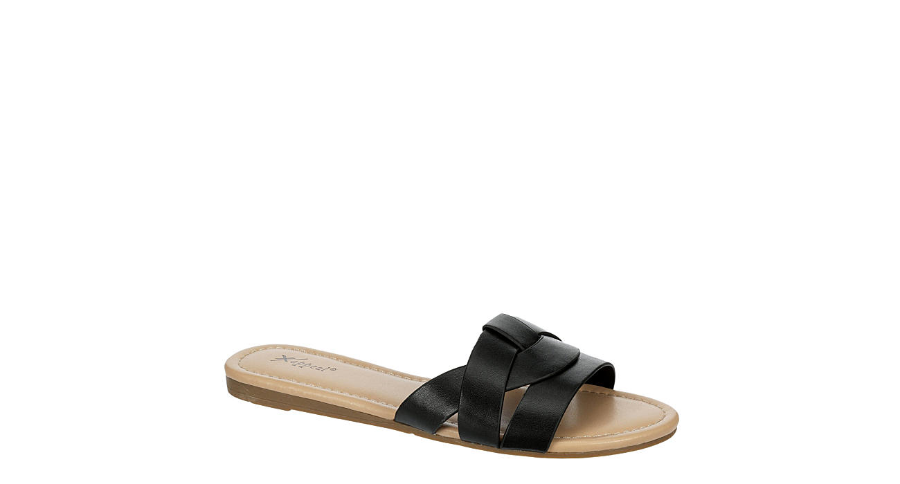 XAPPEAL Womens Maddy Slide Sandal - BLACK