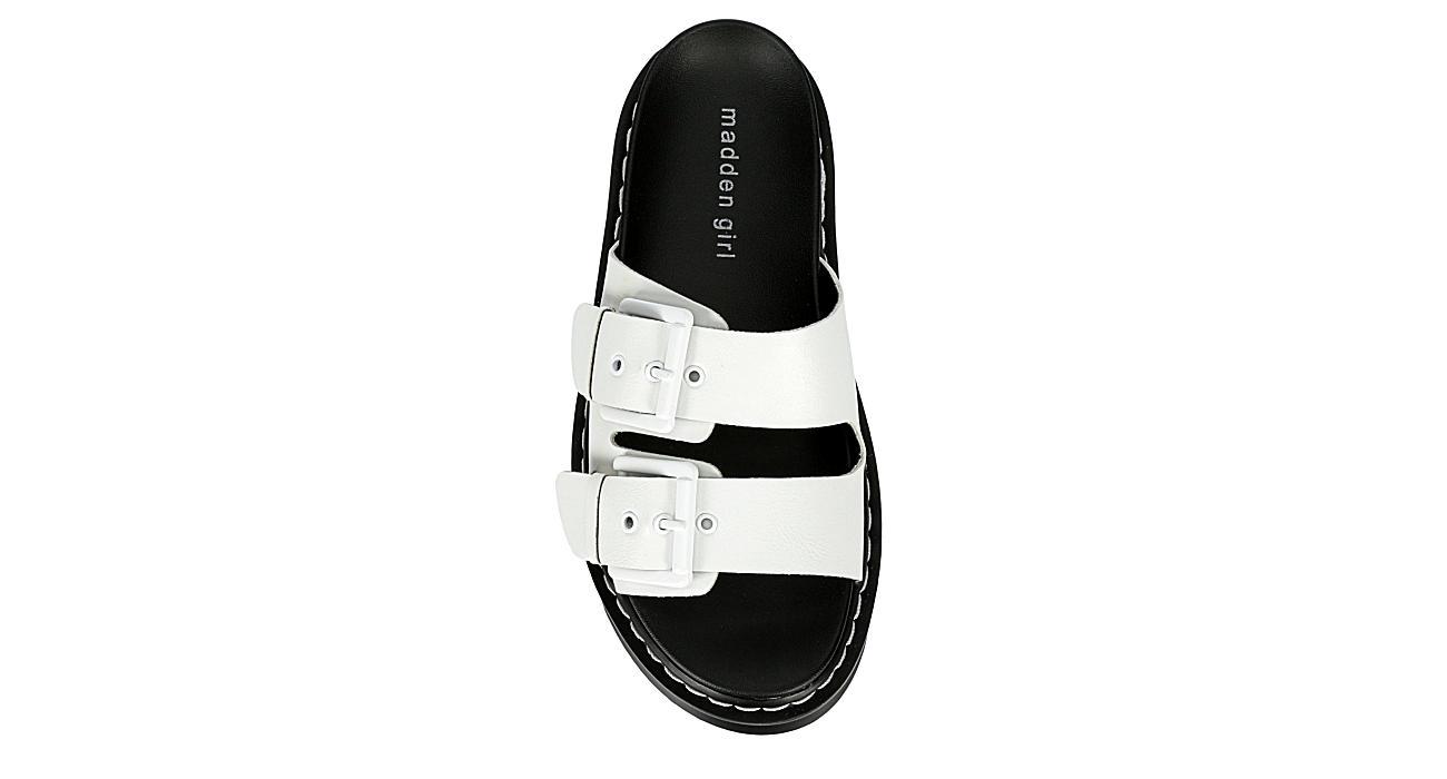MADDEN GIRL Womens Dizzy Platform Slide Sandal - WHITE