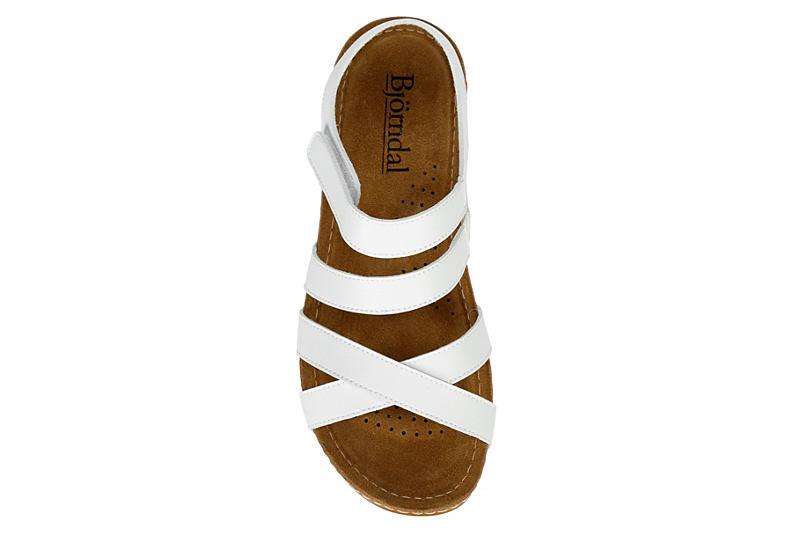 BJORNDAL Womens Sherice Wedge Sandal - WHITE