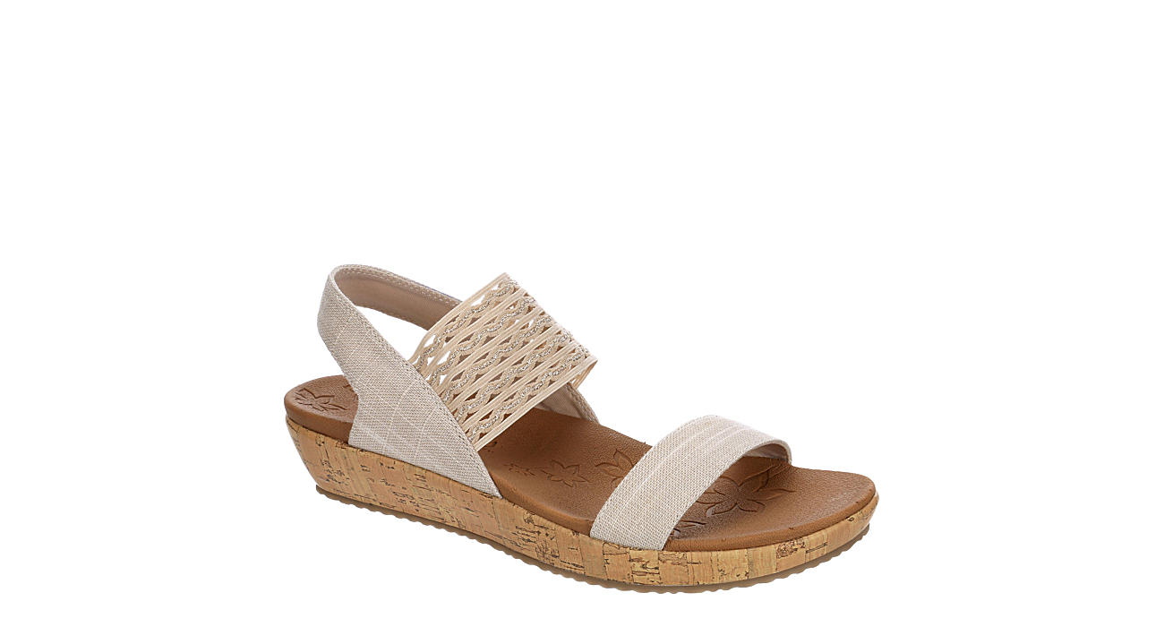 SKECHERS CALI Womens Brie Most Wanted Wedge Sandal - NUDE