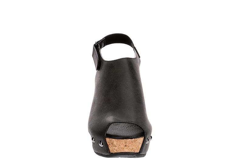 VOLATILE Womens Picadillo Wedge Sandal - BLACK