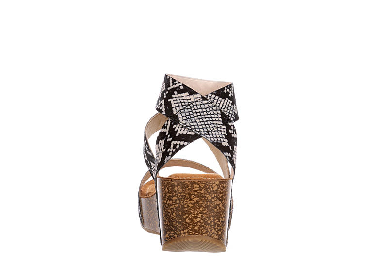MADDEN GIRL Womens Zoeyy Wedge Sandal - SNAKE