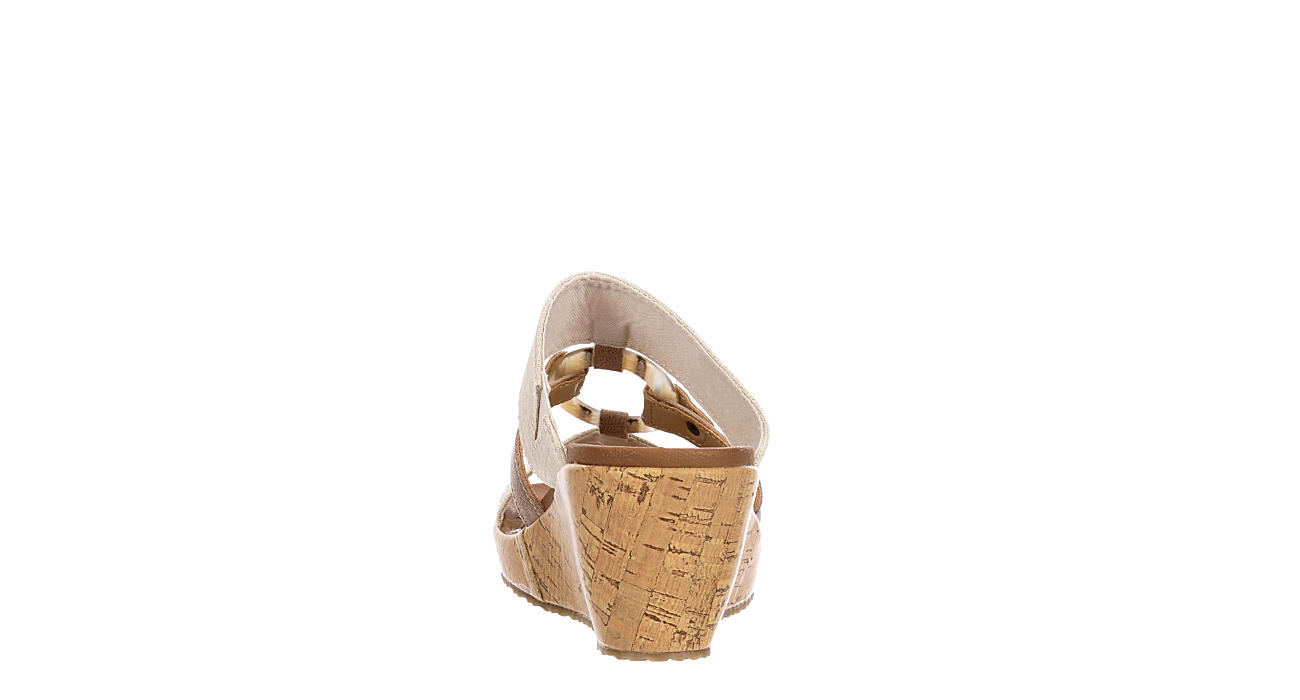 SKECHERS CALI Womens Sail Away Wedge Sandal - NATURAL