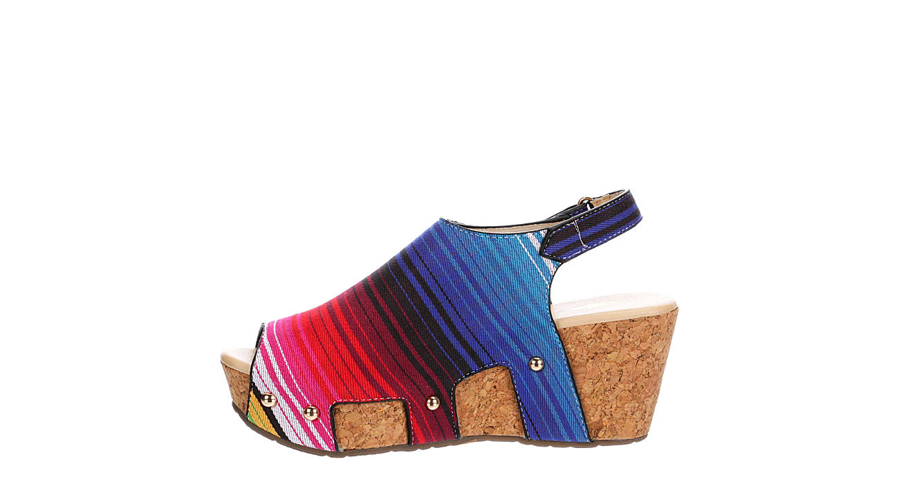VOLATILE Womens Picadillo Wedge Sandal - MULTICOLOR