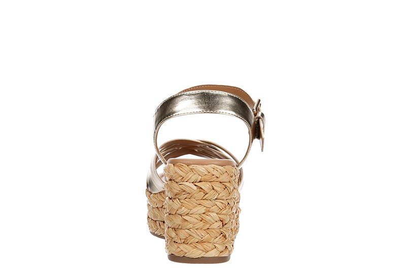 LIMELIGHT Womens Tropez Wedge Sandal - GOLD