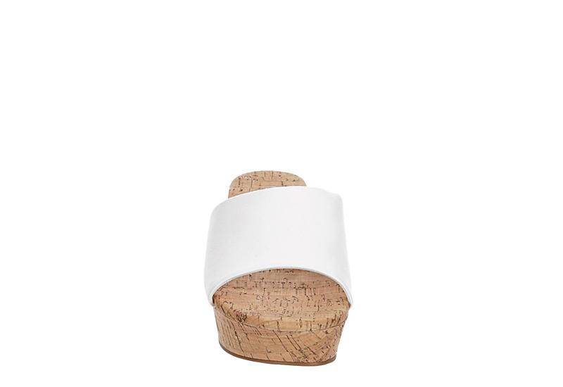 MICHAEL BY MICHAEL SHANNON Womens Ibiza Wedge Sandal - WHITE