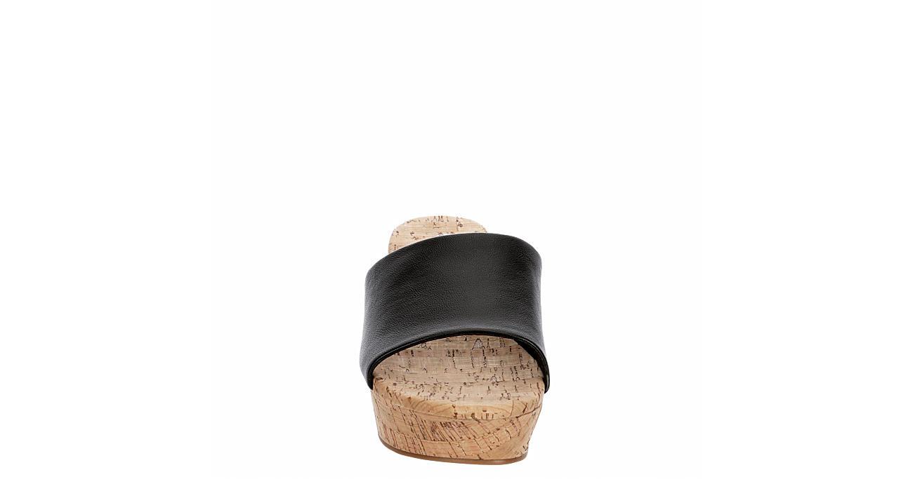 MICHAEL BY MICHAEL SHANNON Womens Ibiza Wedge Sandal - BLACK