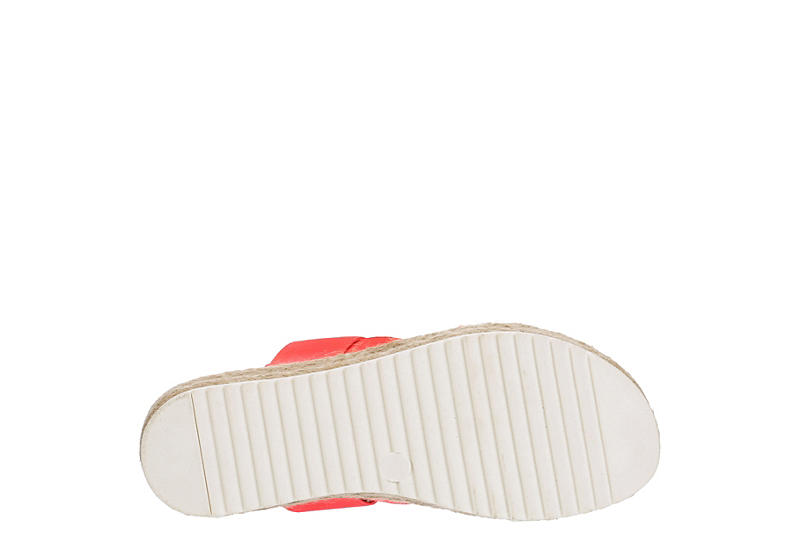 MADDEN GIRL Womens Cybell Platform Wedge Sandal - BRIGHT PINK