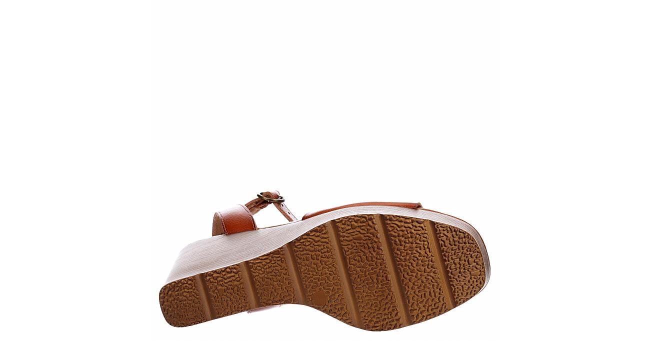 LIMELIGHT Womens Corbin Wedge Sandal - COGNAC