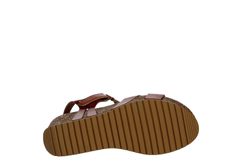 BJORNDAL Womens Kori Wedge Sandal - COGNAC