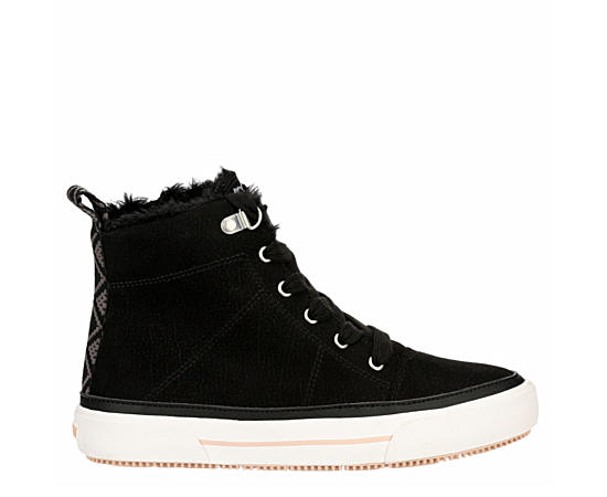 Womens Ivan Fur High Top Sneaker