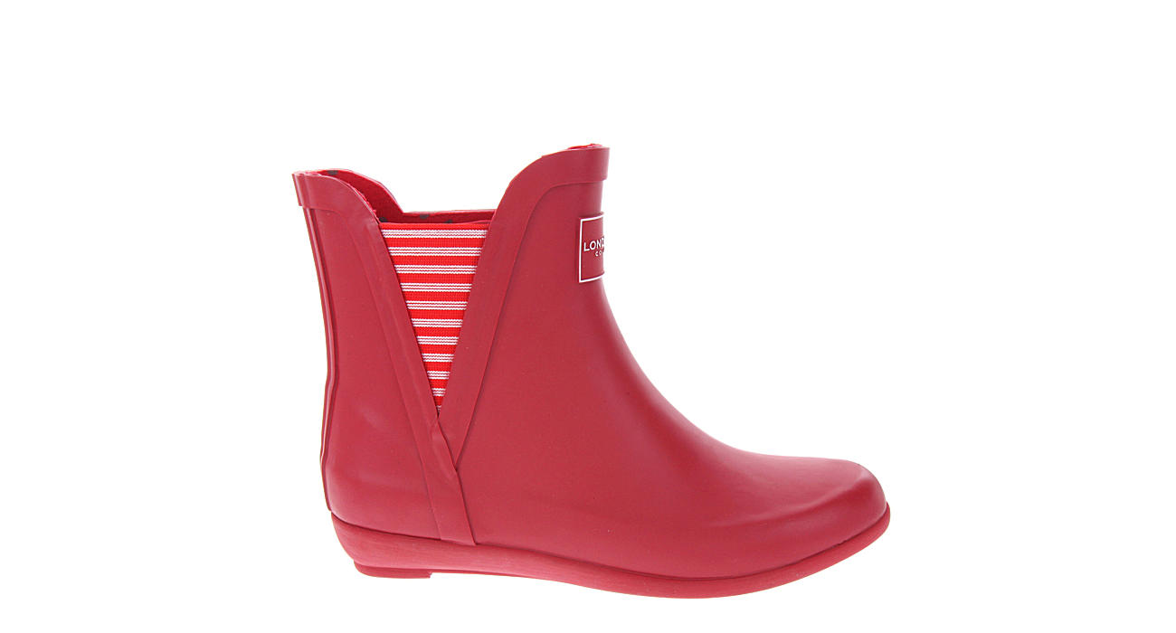 LONDON FOG Womens Piccadilly Rain Boot - RED