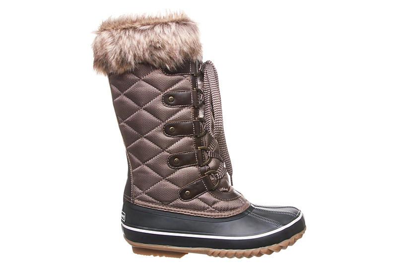 BEARPAW Womens Mckinley Tall Duck Boot - BROWN