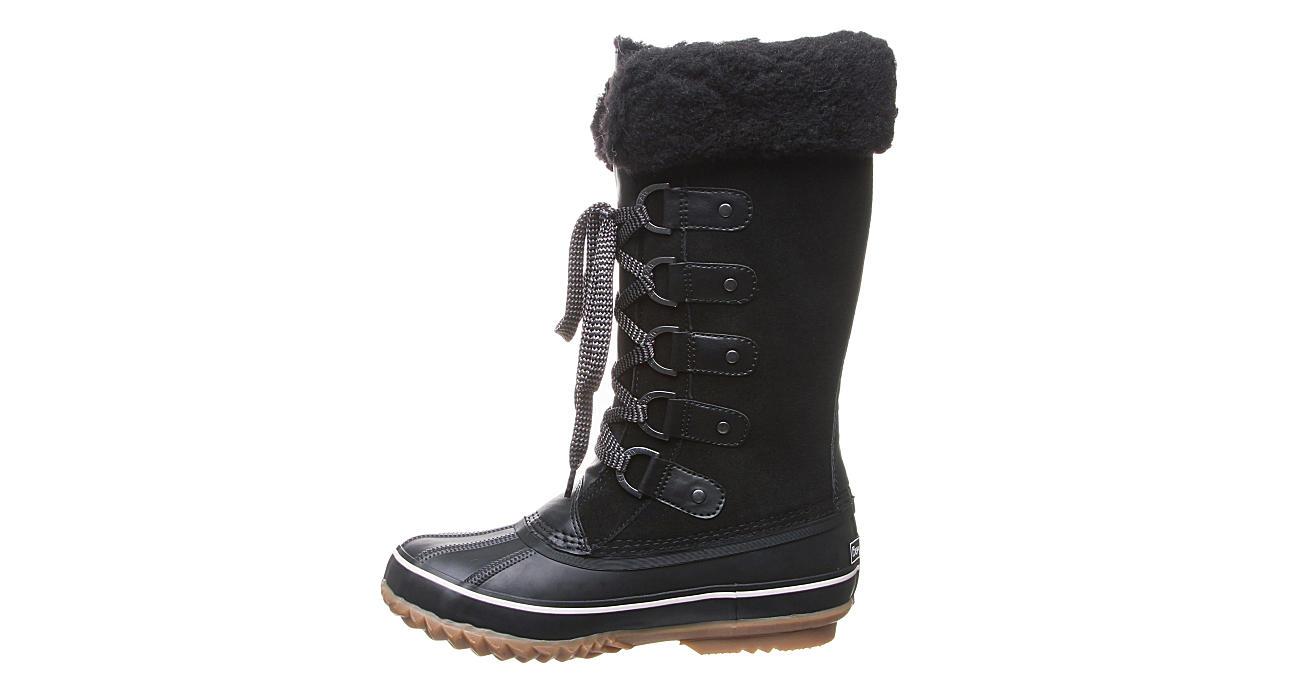 BEARPAW Womens Denali Tall Duck Boot - BLACK