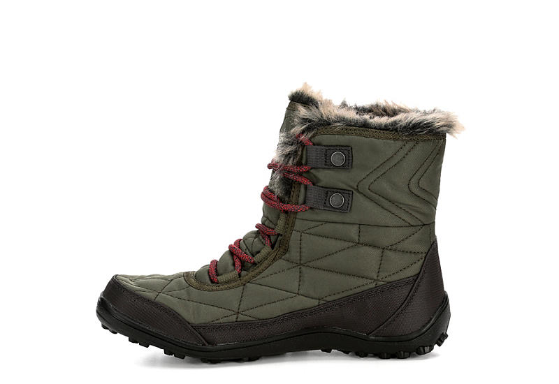 COLUMBIA Womens Minx Shorty Iii Snow Boot - OLIVE