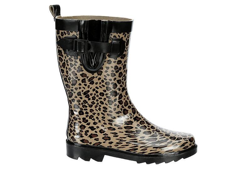 CAPELLI Womens Leopard Rain Boot - LEOPARD