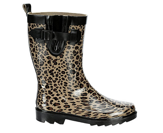 Womens Leopard Rain Boot
