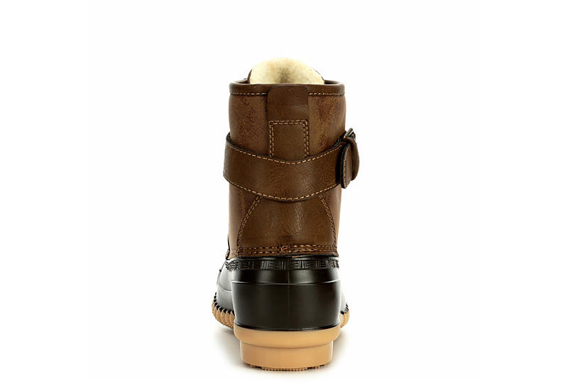 MADDEN GIRL Womens Lacee Duck Boot - BROWN
