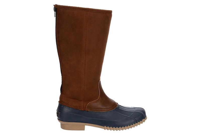 LONDON FOG Womens Whitley Tall Duck Boot - BROWN