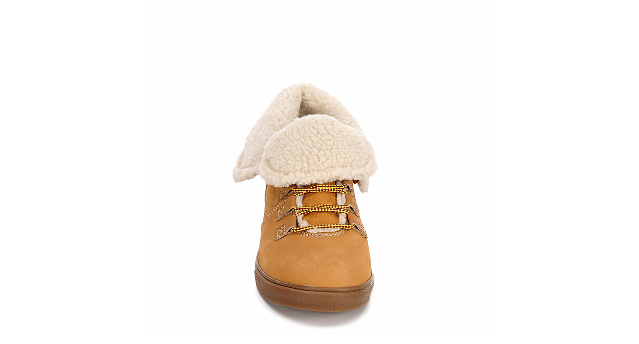 TIMBERLAND Womens Dausette Fleece Fold-down - TAN