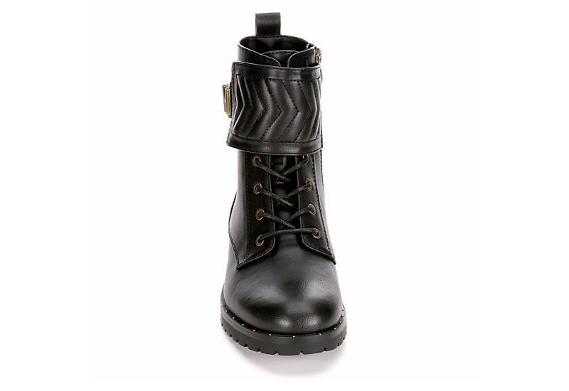 LIMELIGHT Womens Harley Combat Boot - BLACK