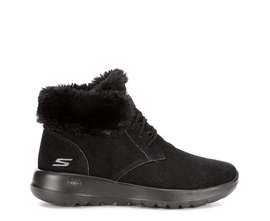 Womens Lush Lace-up Fur Boot