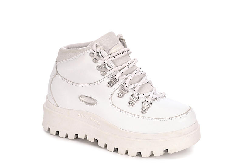 WHITE SKECHERS Womens Shindigs