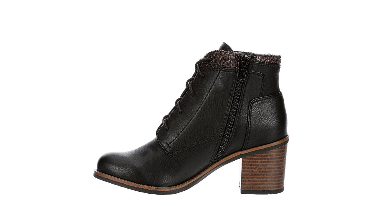 WHITE MOUNTAIN Womens Desmen Lace-up Boot - BLACK