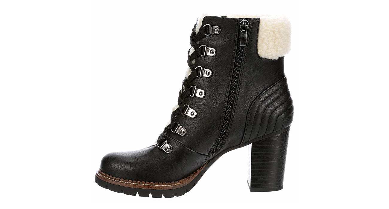 LIMELIGHT Womens Robyn Lace-up Boot - BLACK