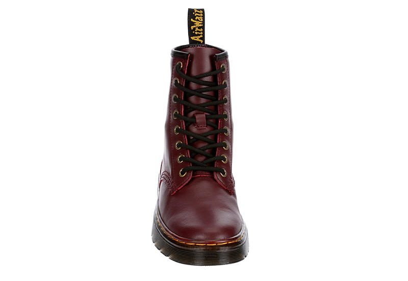 DR.MARTENS Womens Zavala Combat Boot - RED