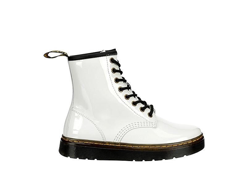 DR.MARTENS Womens Zavala Combat Boot - WHITE