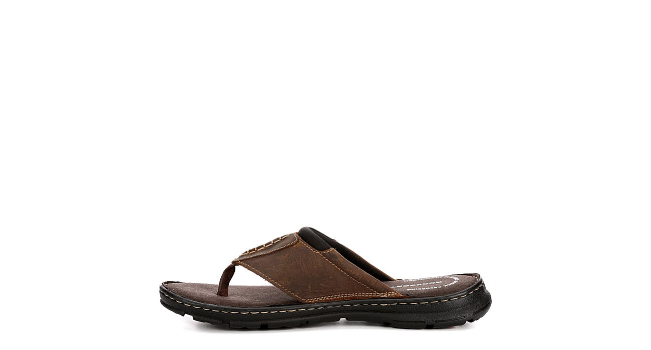 ROCKPORT Mens Darwyn Thong - BROWN