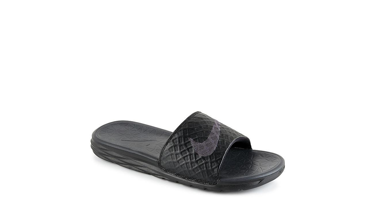 new concept 0cf3b 832d3 Nike Mens Benassi Solarsoft 2 - Black