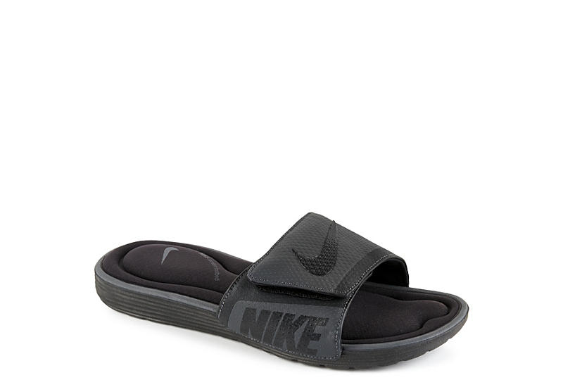 9f1258d2d Black Nike Mens Solarsoft Comfort Slide