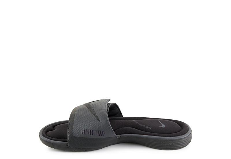 7d3f62fdf Nike Mens Solarsoft Comfort Slide - Black