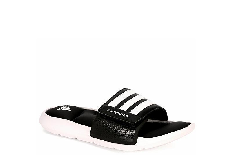black adidas mens superstar 5g atletico rack stanza scarpe