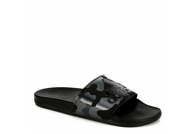 finest selection 44a21 dad9b Adidas Mens Adilette Camo - Black