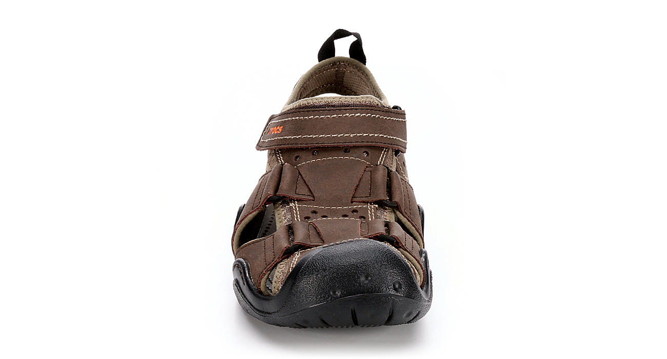 CROCS Mens Swiftwater Fisherman Sandal - BROWN