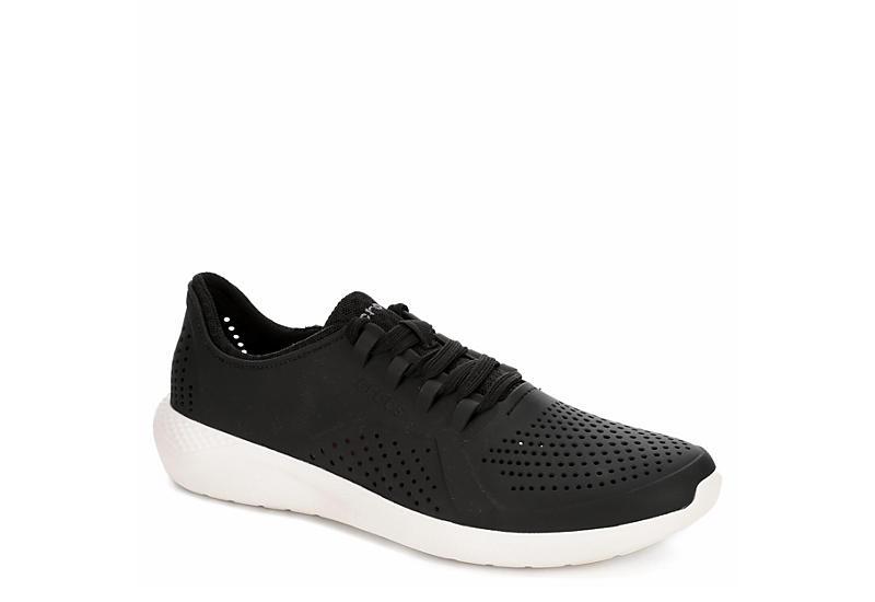 4f276afc275a Black Crocs Mens Literide Pacer Lace Up