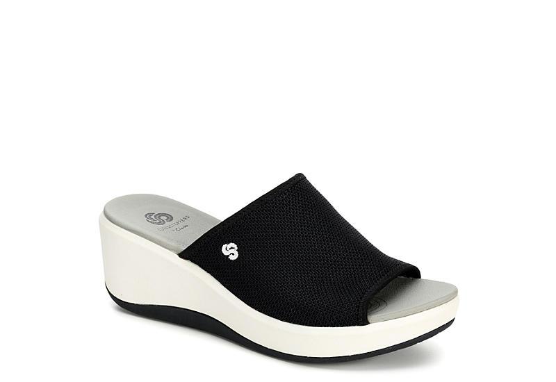Black Clarks Womens Step Cali Bay Sandals Rack Room Shoes