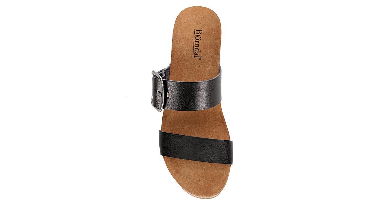 BJORNDAL Womens Daisy Wedge Sandal - BLACK