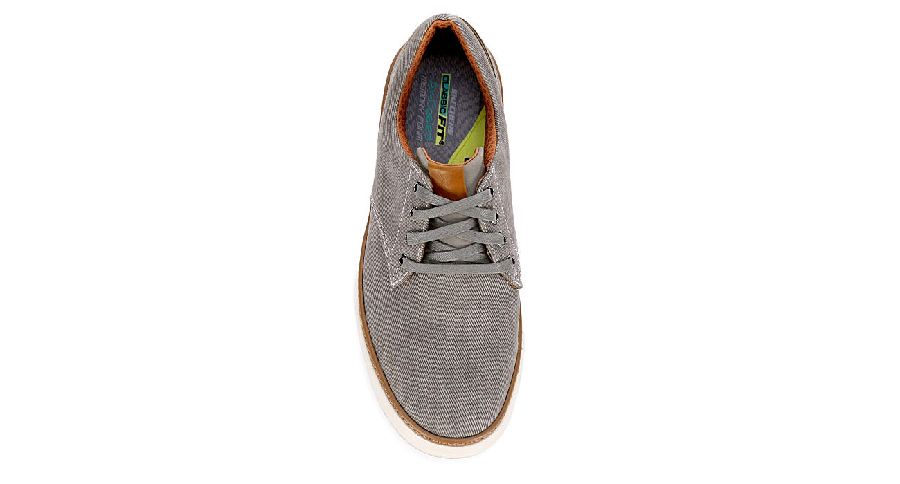 37f42fb474 Taupe Skechers Mens Moreno | Canvas | Rack Room Shoes