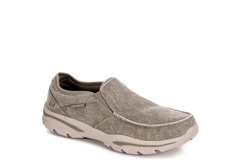 TAUPE SKECHERS Mens Moseco