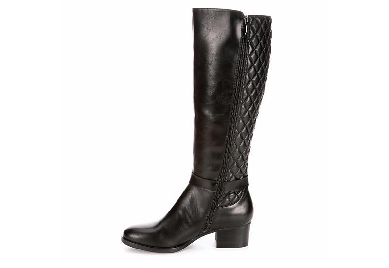 LAUREN BLAKWELL Womens Elise Wide Calf Riding Boot - BLACK