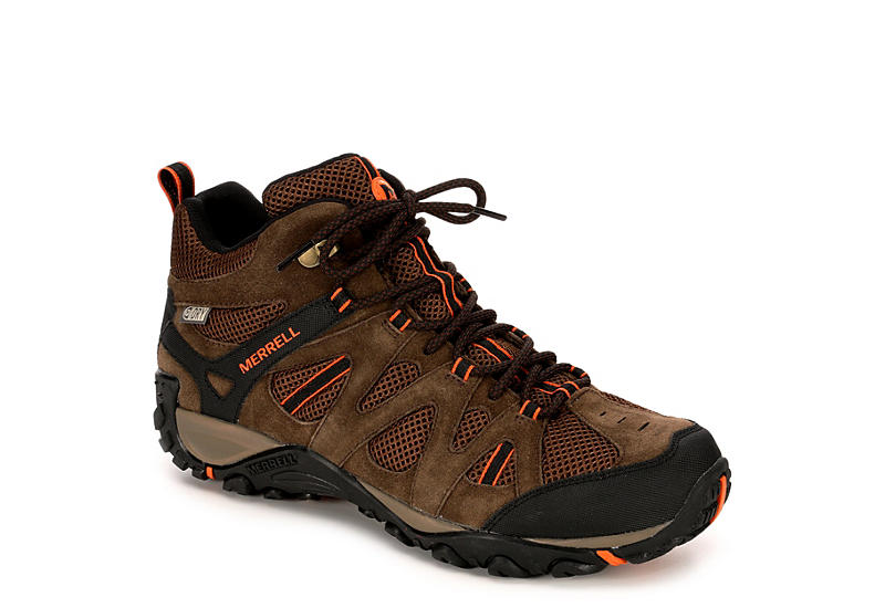 61d9591b2a13 Taupe Merrell Mens Deverta Mid
