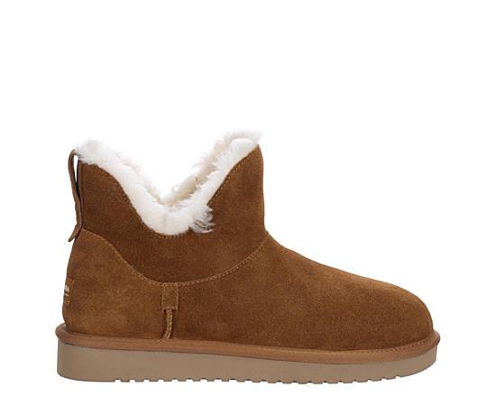 Womens Euna Mini Fur Boot