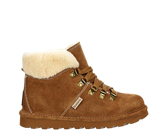 Womens Marta Lace-up Fur Boot
